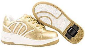 Schuhe mit Rollen in Gold