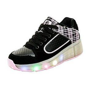 Schuhe mit Rollen und LED